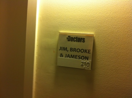Our official dressing room!