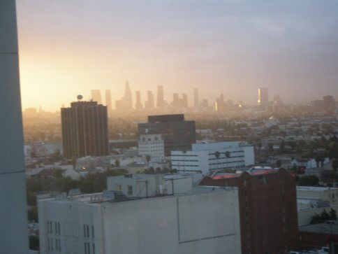 Morning View of LA from our room
